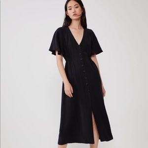 Zara black button up dress NWT size XS
